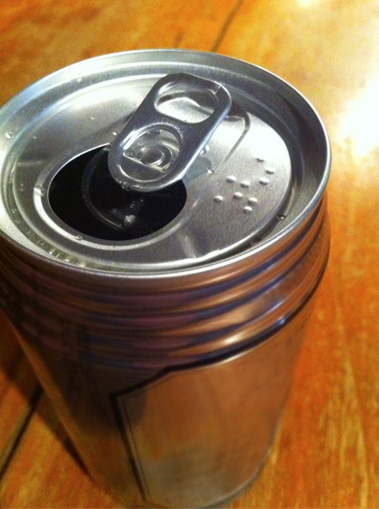 Brailled Beer Cans
