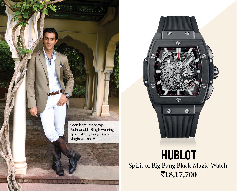 Padmanabh Singh wearing Hublot watch