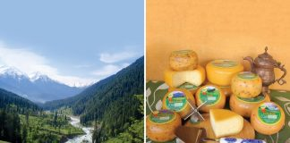 cheese factory in Kashmir