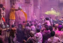 Holi In Vrindavan and Mathura