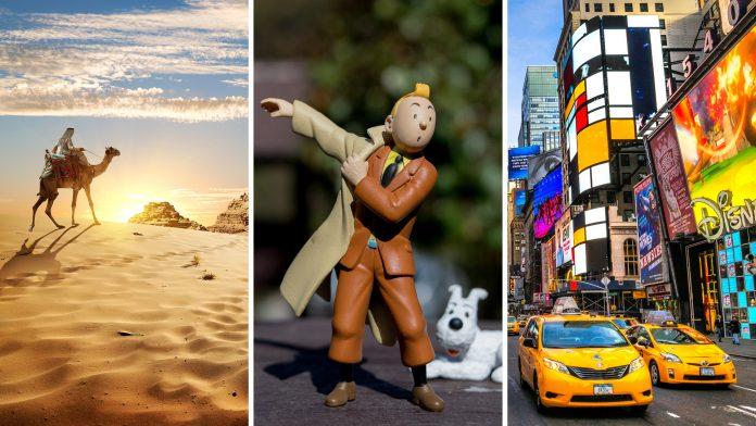 Tintin and Snowy's adventures