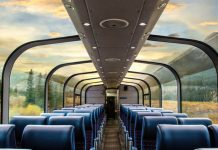 Glass Domed Train in Canada