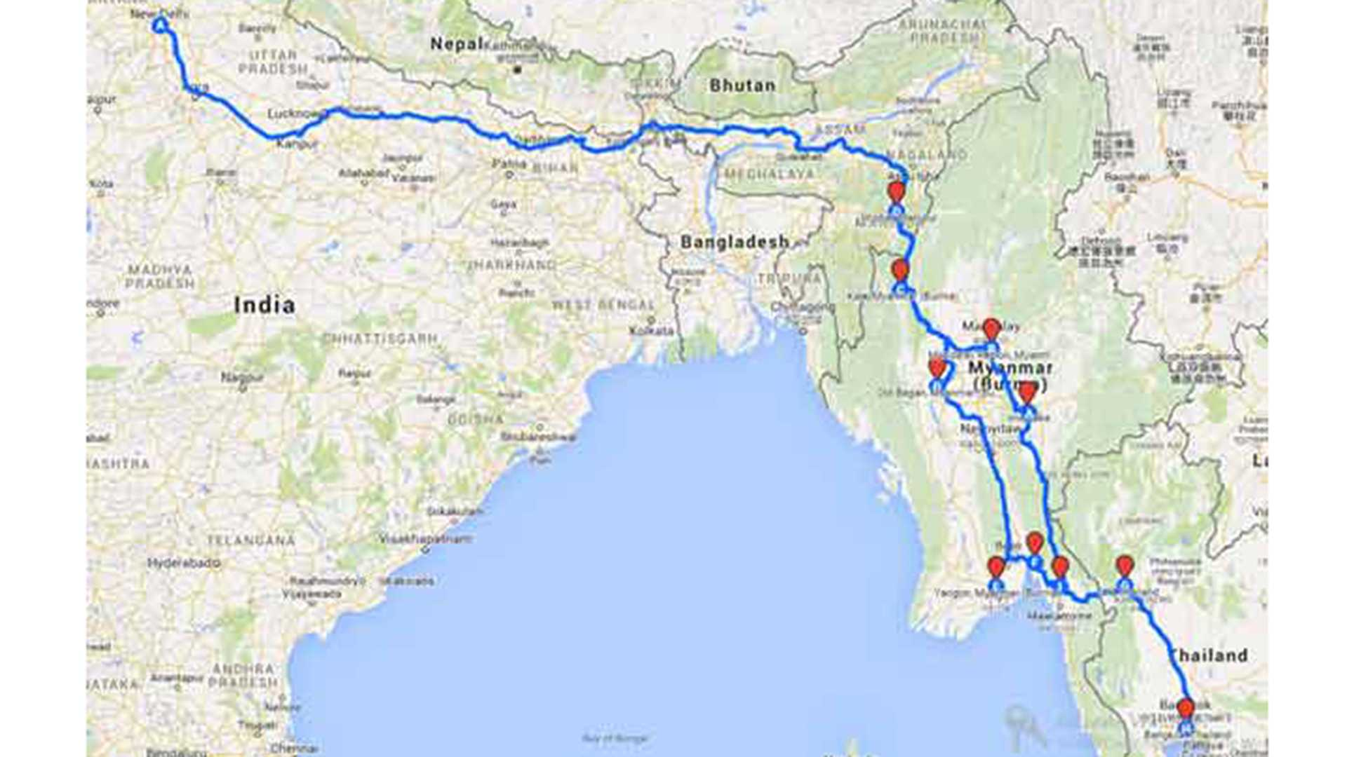 India to Thailand road trip