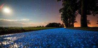 Luminous Bicycle Paths in Poland