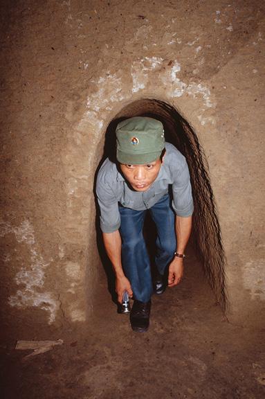 Cu Chi tunnels in Vietnam