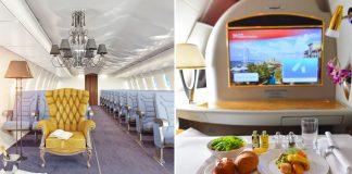 Luxurious First-Class Plane Cabins