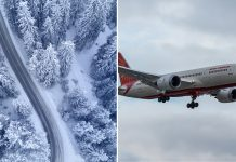 Air India North Pole Flight