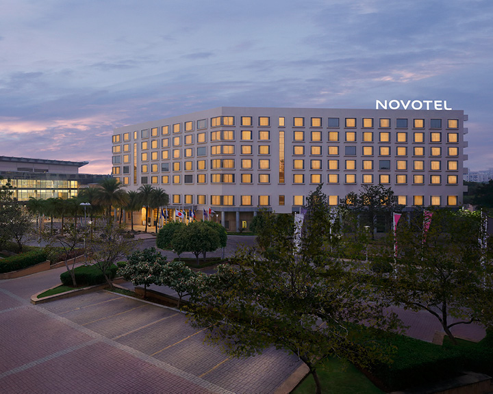Novotel Hyderabad Convention Centre and Hyderabad International Convention Centre.