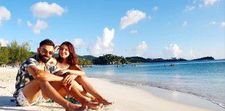 Virat Kohli And Anushka Sharma At Caribbean Beach