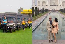 Jeff Bezos in Taj Mahal