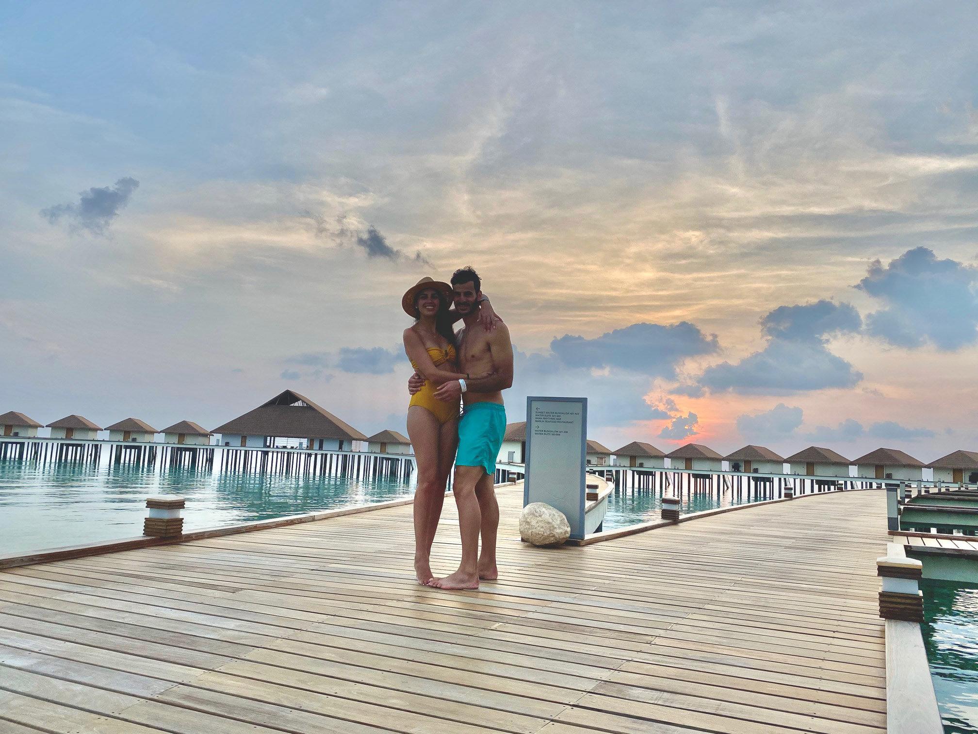 Newlyweds In Maldives