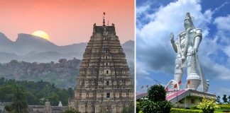 Hanuman statue in Karnataka